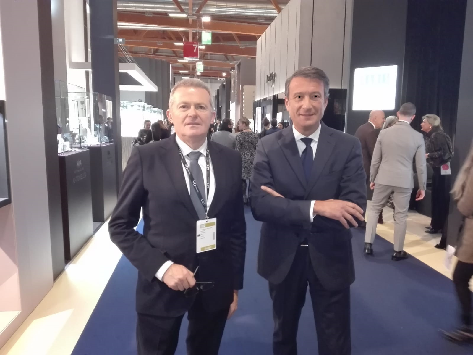 Guasconi e Salvini presenti al taglio del nastro di VOJ (Vicenzaoro January) – The Jewellery Boutique Show