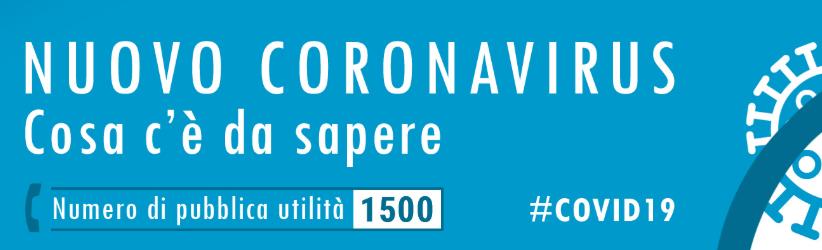Coronavirus: tutte le informazioni in materia di salute e sicurezza