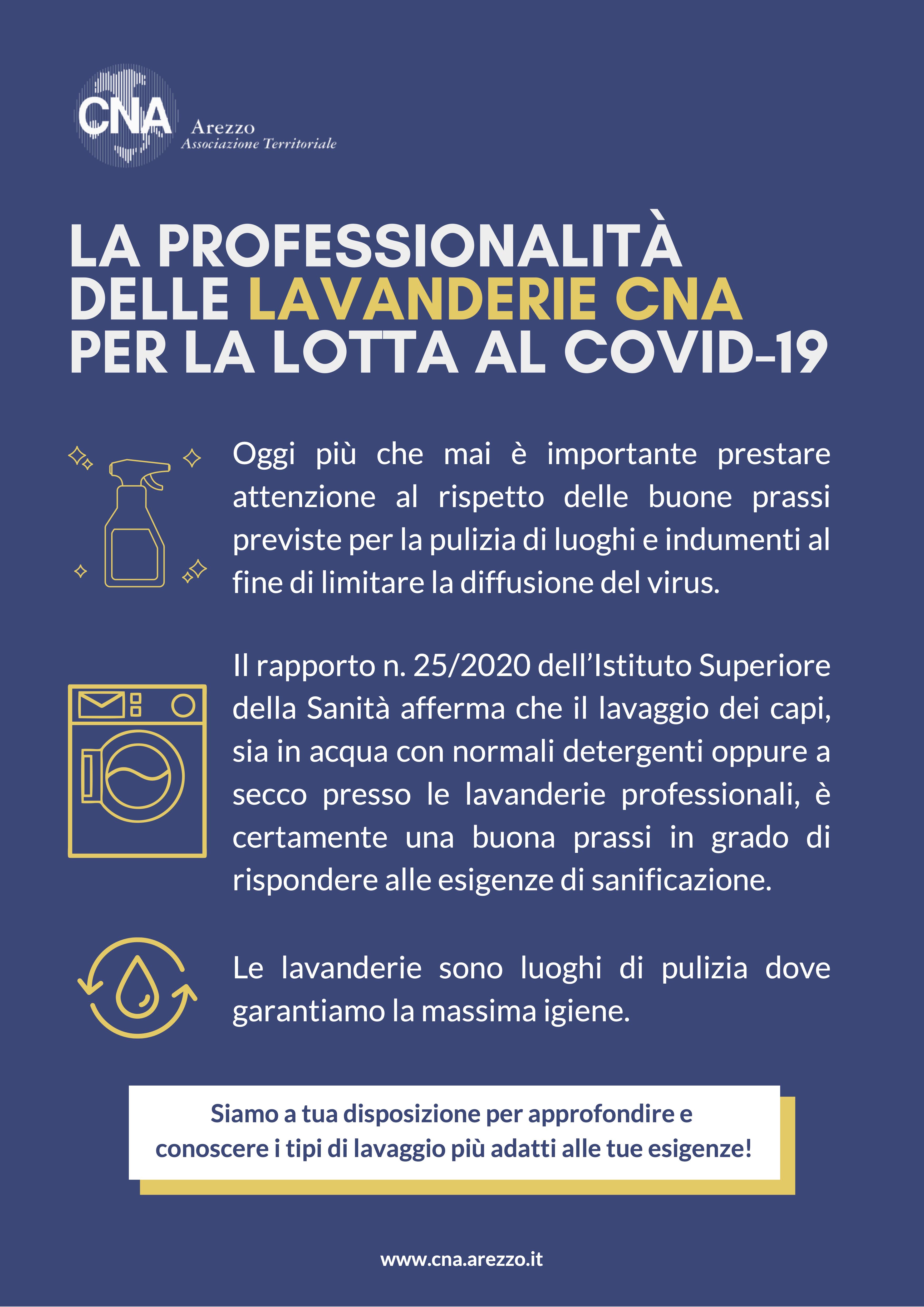 La professionalità delle lavanderie CNA per la lotta al Covid-19
